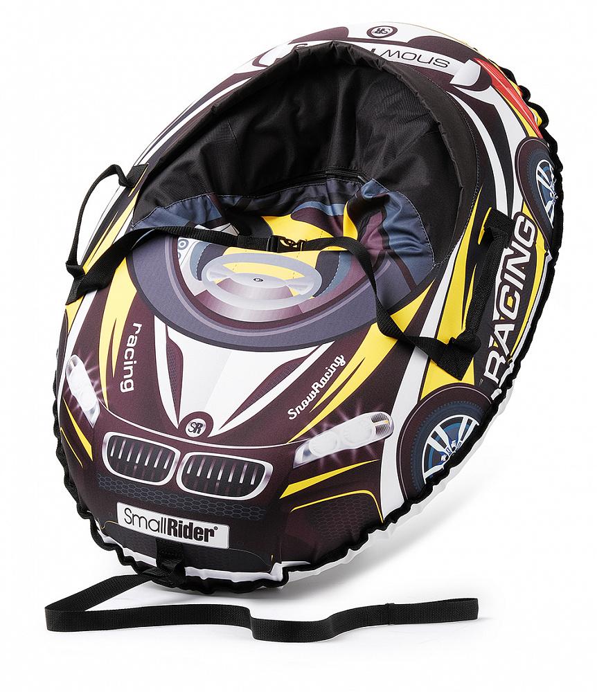 Купить Тюбинг-санки, Snow Cars 3 МВ черный с желтым, 1шт., Small Rider 1425151, Россия