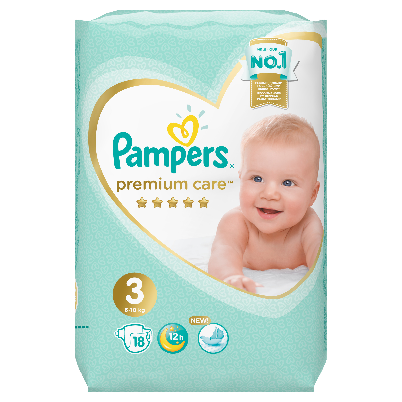 цена на Подгузники Pampers Premium Care Midi 3 (6-10 кг) 18 шт.