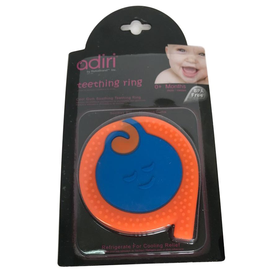 Прорезыватели Adiri A Teething Rings Сyan-orange 80mm tube rings