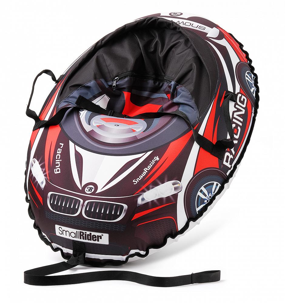 Купить Тюбинг-санки, Snow Cars 3 МВ черный с красным, 1шт., Small Rider 1425152, Россия, черный/красный