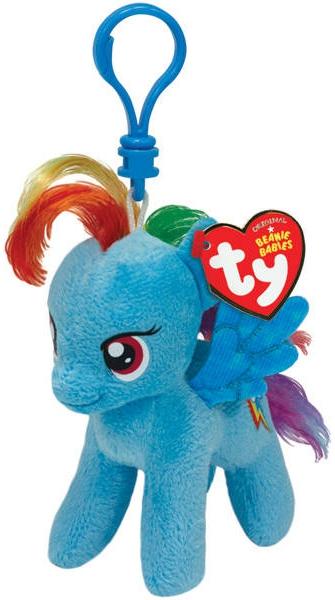 Мягкая игрушка TY Пони Rainbow Dash на брелке