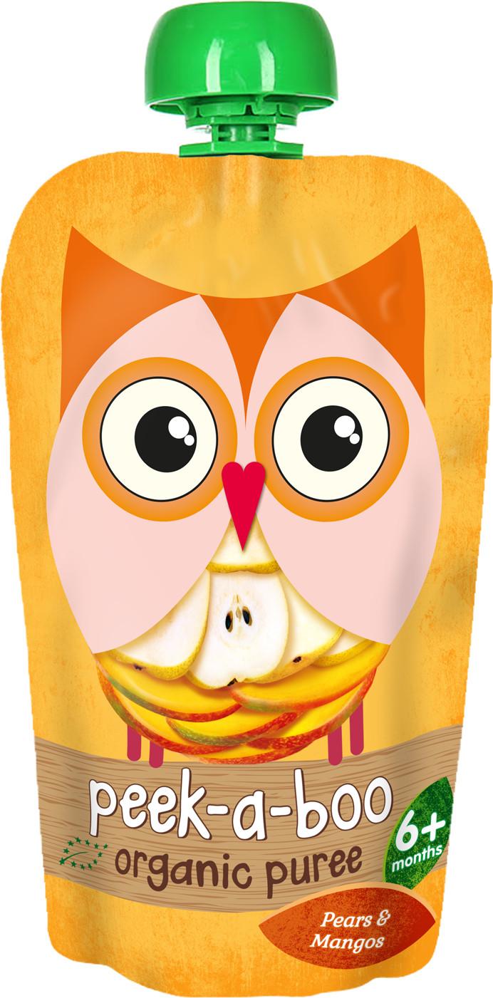 Пюре Peek-a-boo Peek-a-boo Груша манго (с 6 месяцев) 113 г фруктовое peek a boo peek a boo яблоко с 4 месяцев 113 г