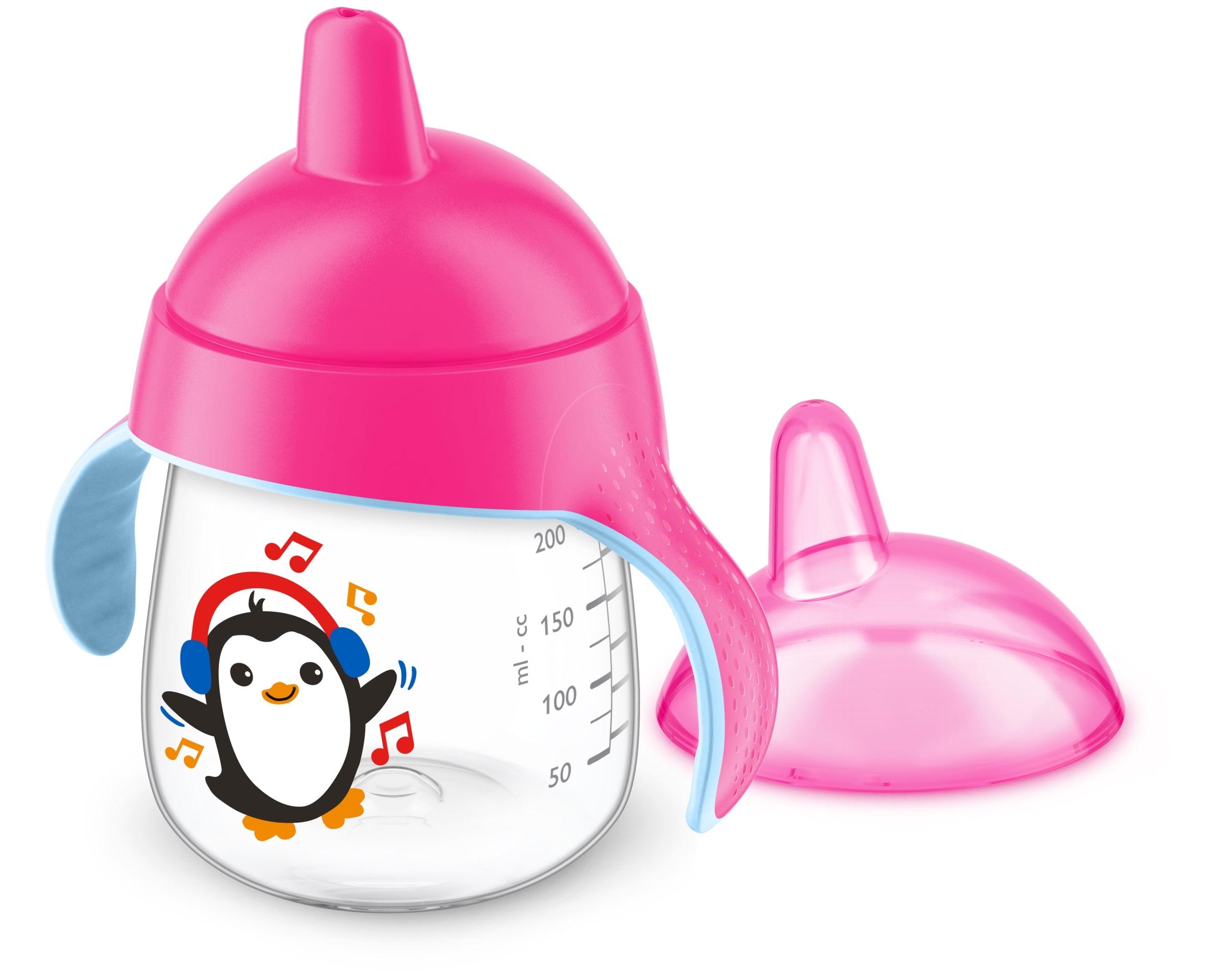 Чашки и поильники Philips AVENT Чашка-непроливайка Philips Avent с12 мес. 260 мл розовая philips avent соска philips avent natural 2 шт поток средний c 3 мес