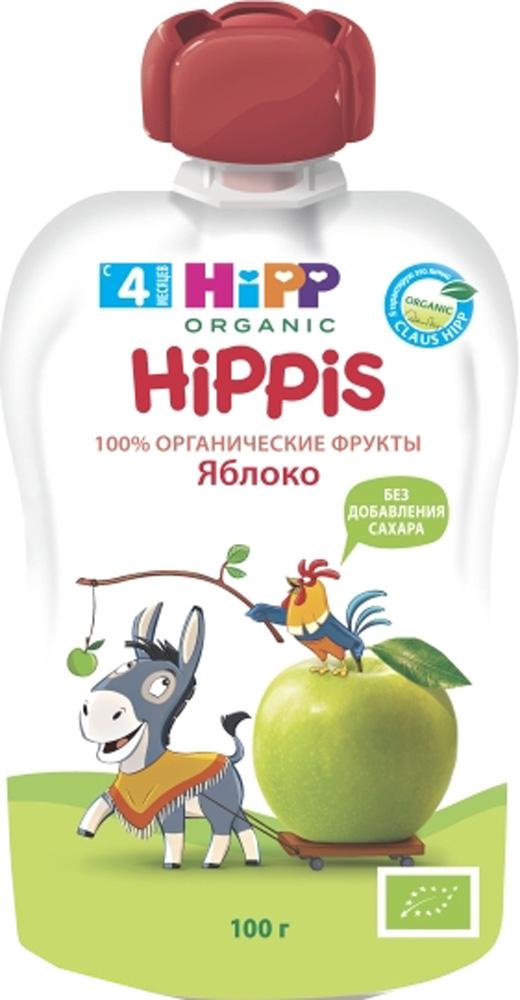 Фото Фруктовое HIPP Пюре Hipp «Hippis» Яблоко с 4 мес. 100 г (пауч)