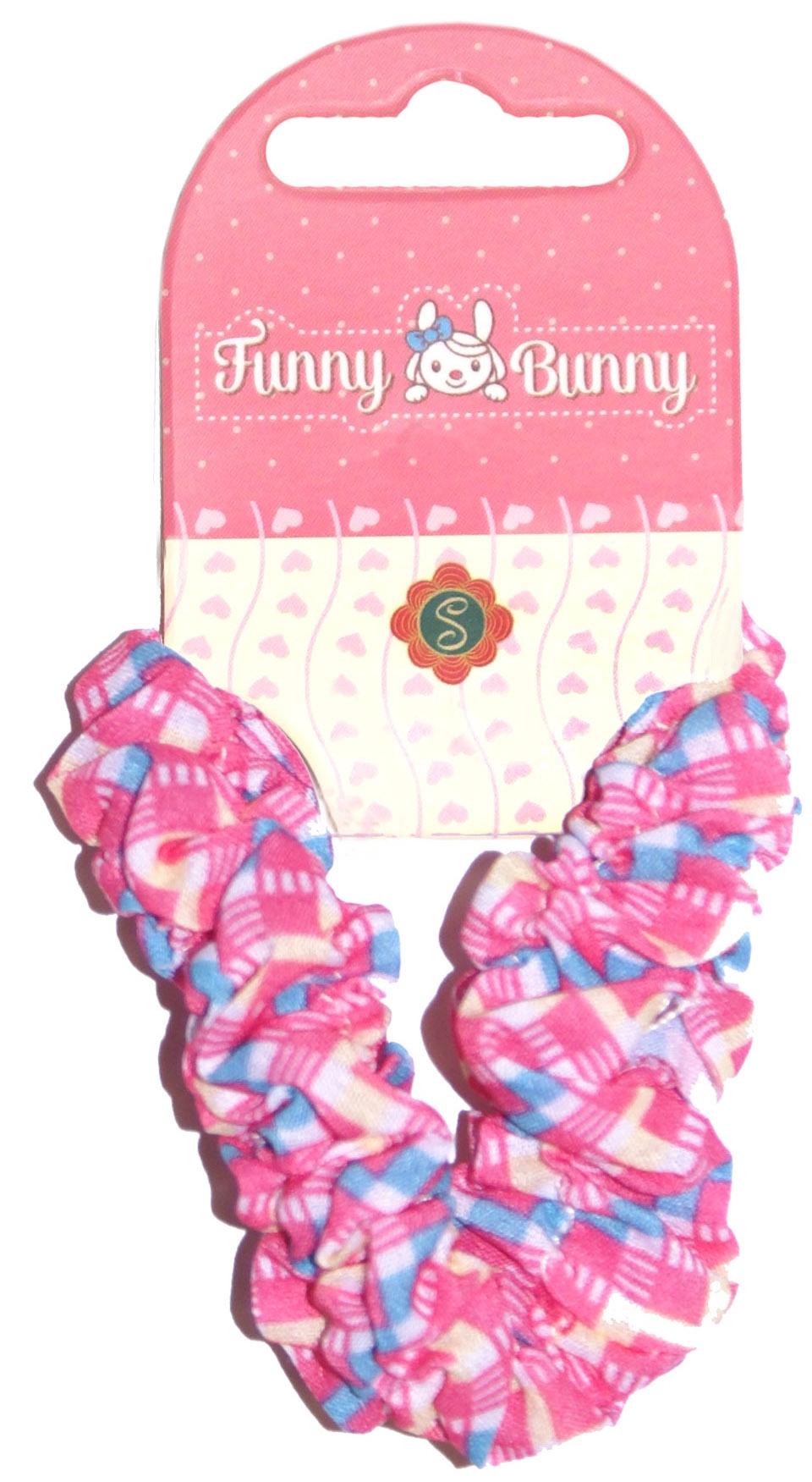 Украшения Funny Bunny Резинка для волоc Funny Bunny «Шу-Шу» 1 шт. в ассортименте невидимка для волос funny bunny розовые цветы 2 шт