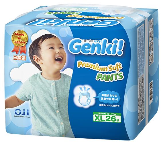 Подгузники-трусики Genki Трусики-подгузники Genki XL (12-17 кг) 26 шт. трусики подгузники lovular giraffe xl 12 17 кг 46 шт