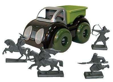 машинка Пластмастер Машина с фигурками воинов машинки и техника пластмастер малютка