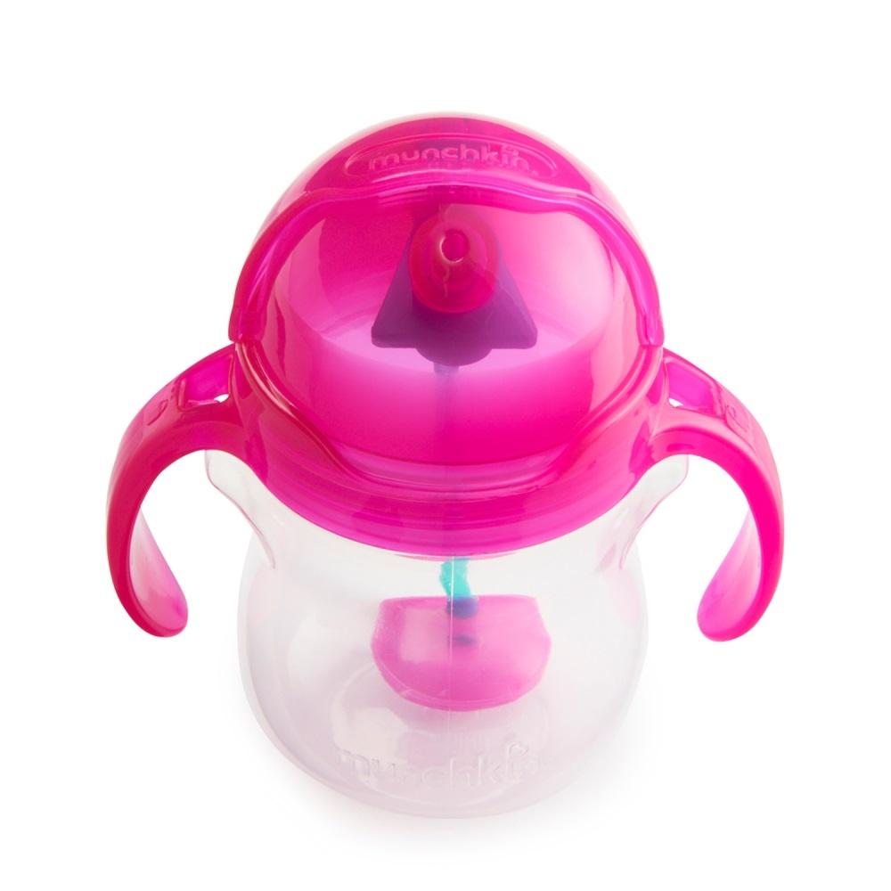 Чашки и поильники Munchkin Click Lock 207 мл. с 6 мес., розовый. детский ковшик munchkin мягкий кувшин для мытья волос от 6 мес розовый