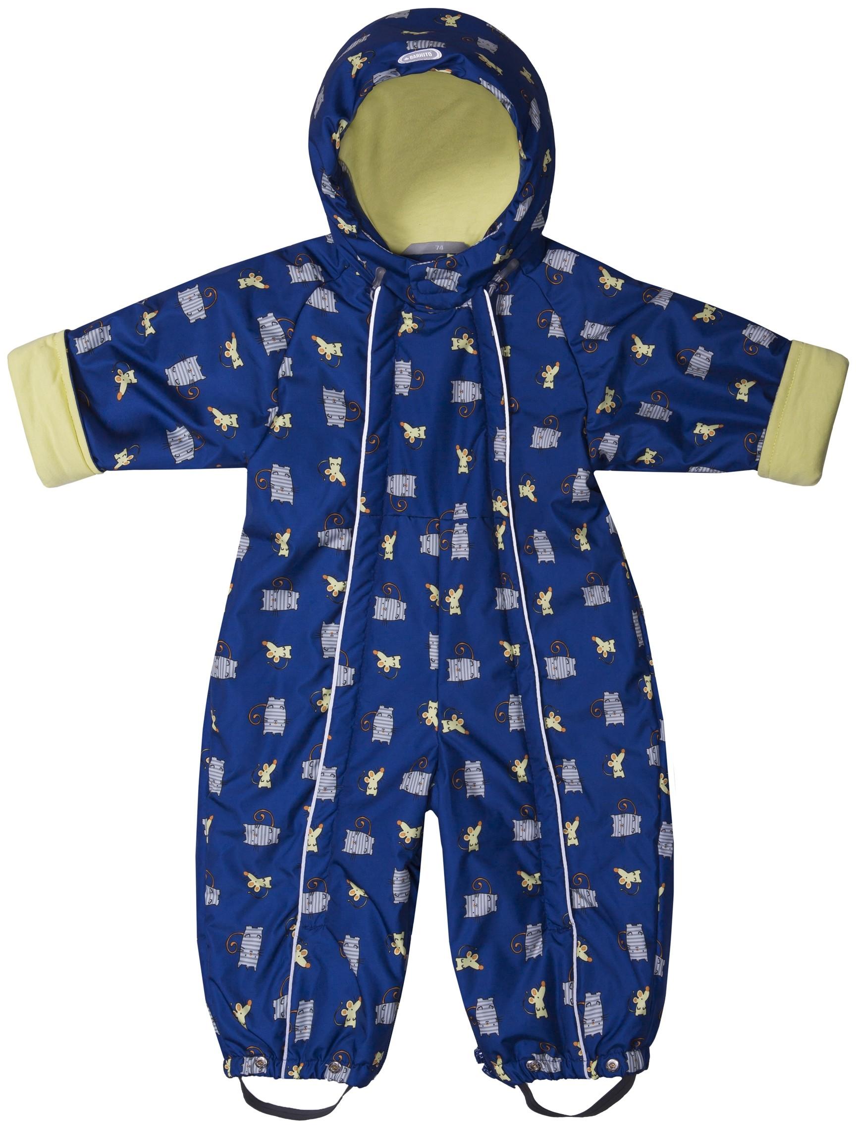 Купить Комбинезоны, Комбинезон - трансформер для мальчика Barkito, синий с рисунком, Китай, Мужской