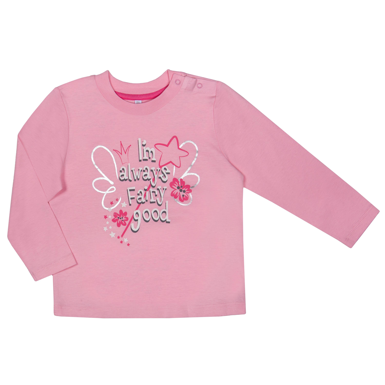 """Футболки Barkito Футболка с длинным рукавом для девочки Barkito """"Зимняя сказка 1"""", розовая футболка с длинным рукавом для девочки barkito сказочный лес 1 розовая"""