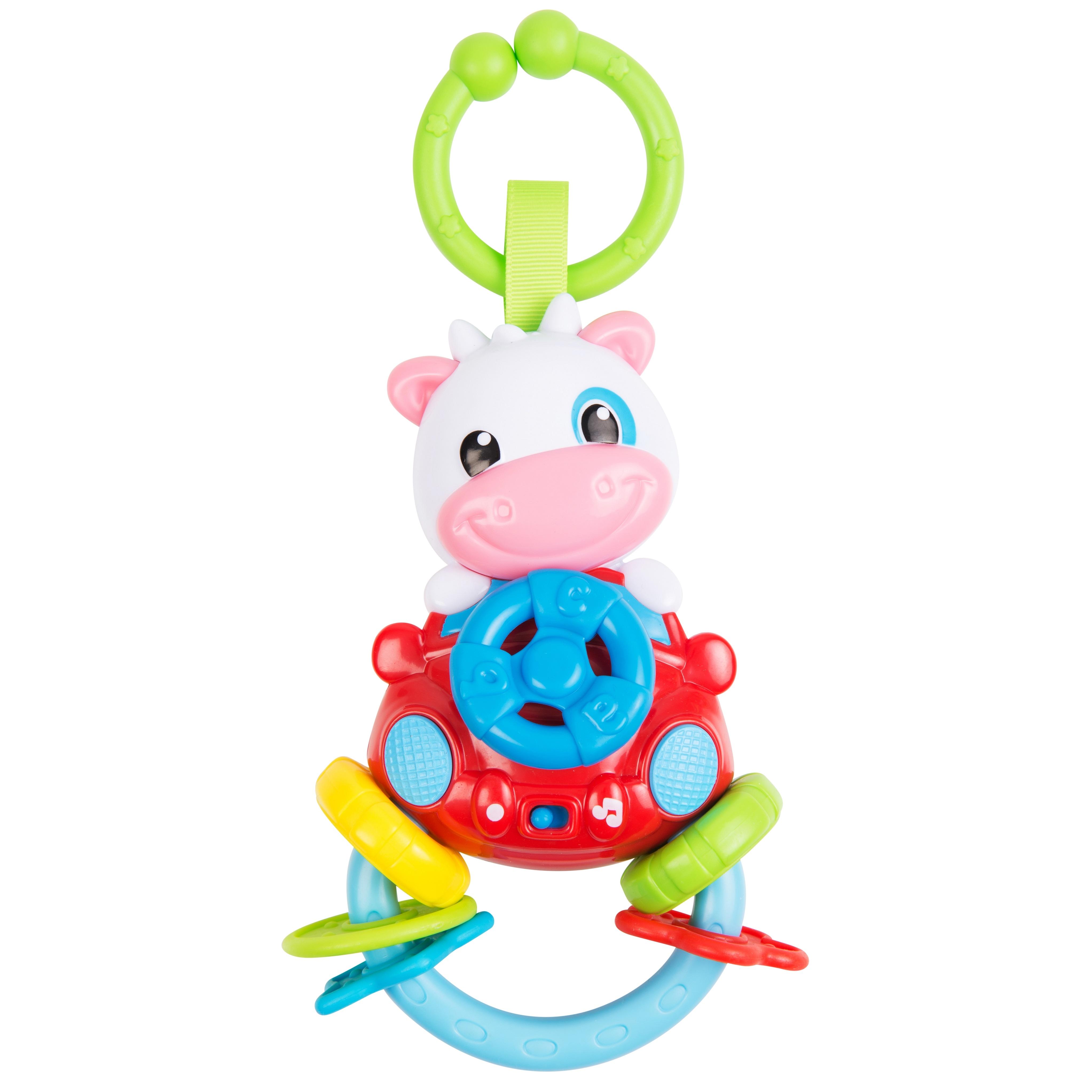 Музыкальная подвеска Clementoni Коровка babyono музыкальная игрушка подвеска коровка