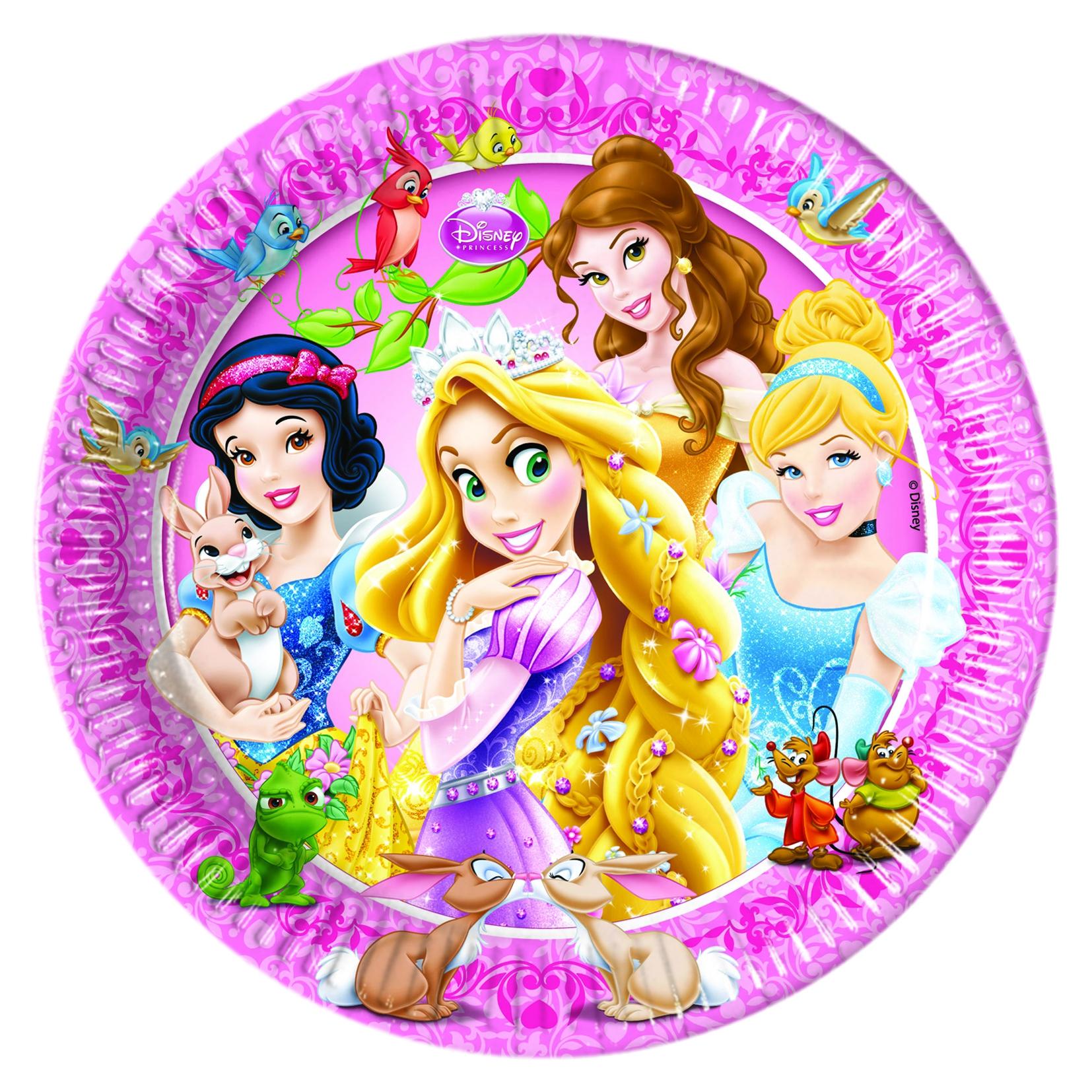 Тарелки Procos Принцессы и животные 8 шт. посуда и скатерти procos самолеты 120x180 см