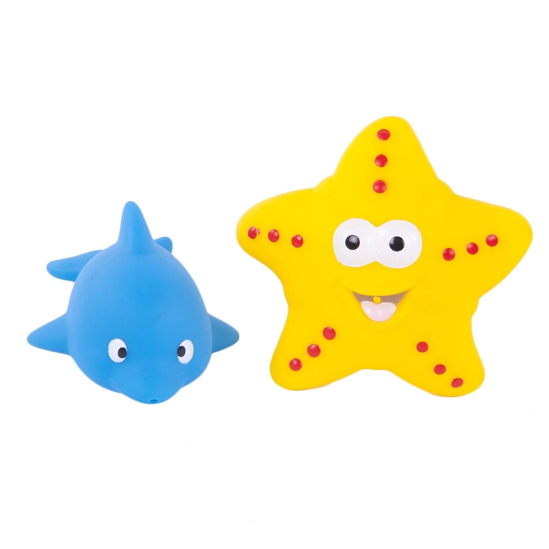 Игрушки для ванны Жирафики Набор для купания Жирафики «Дельфин и морская звезда» игрушки для ванны жирафики набор для купания черепашка и пингвин