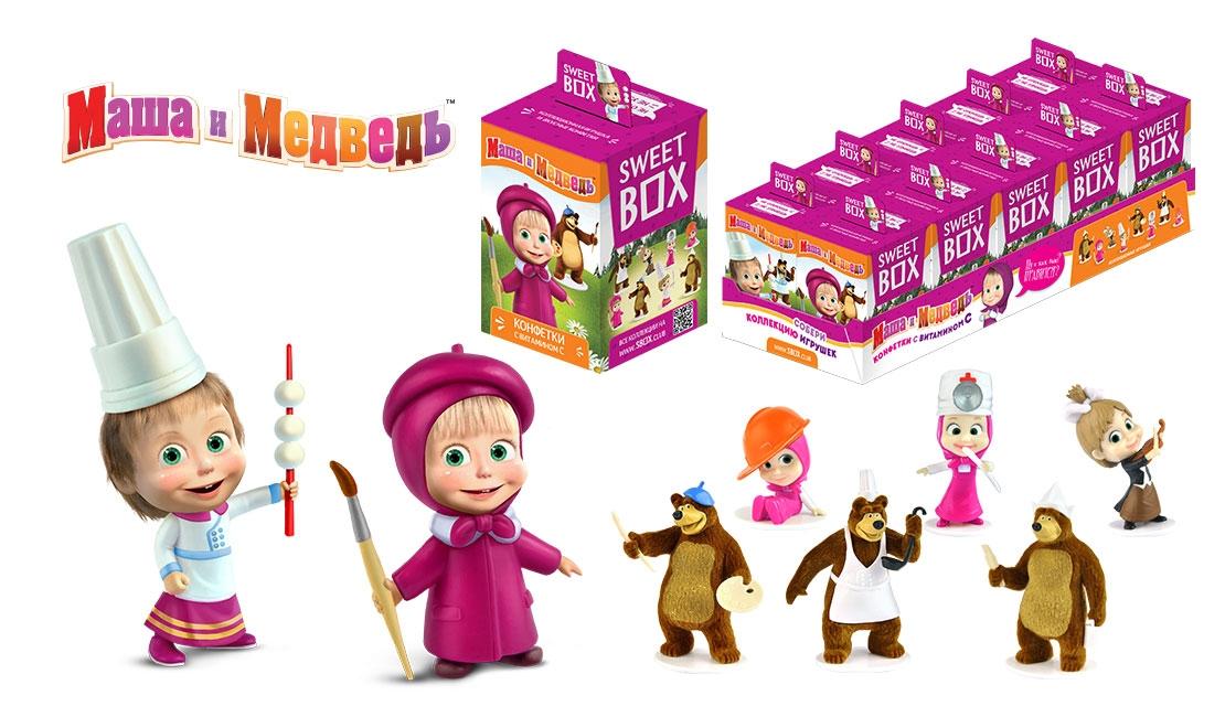 Купить Десерты, Sweet Box «Маша и Медведь» 10 г, Россия, в ассортименте