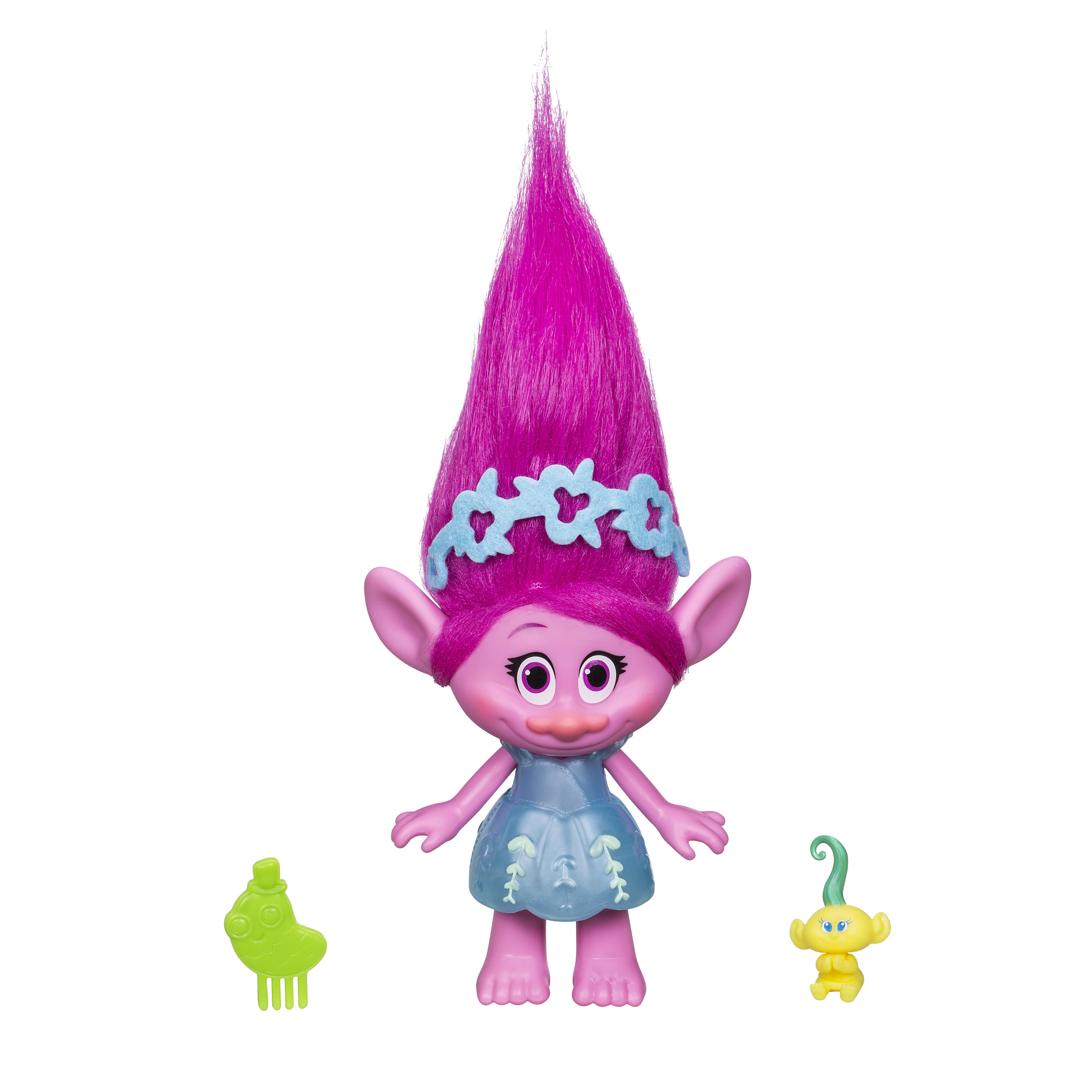 Фигурки героев мультфильмов Trolls Тролли c заколочками для волос E0144EU4 trolls игровой набор тролли волшебный домик