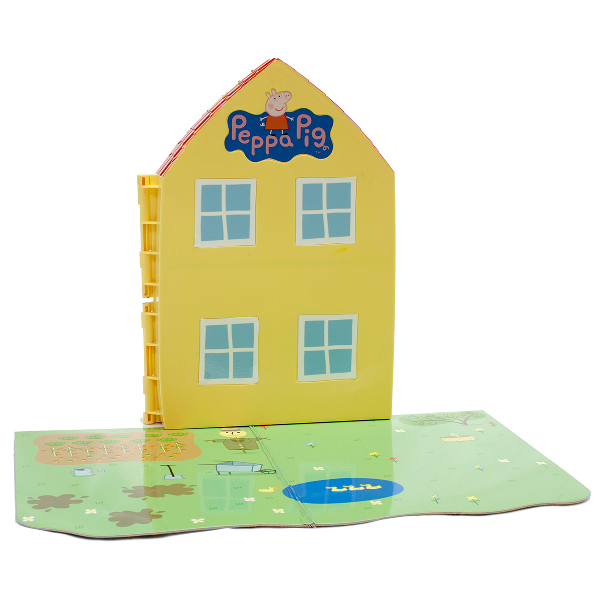 Фото - Игровой набор Peppa Pig Домик свинки Пеппы, 16 предметов домик у пруда