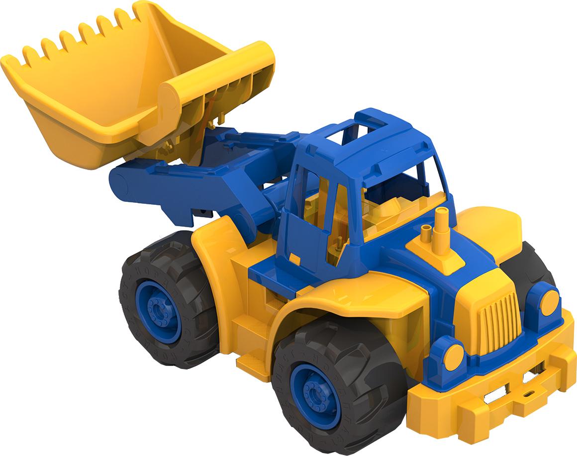 Игрушечные машинки и техника Нордпласт Богатырь с грейдером 50 см