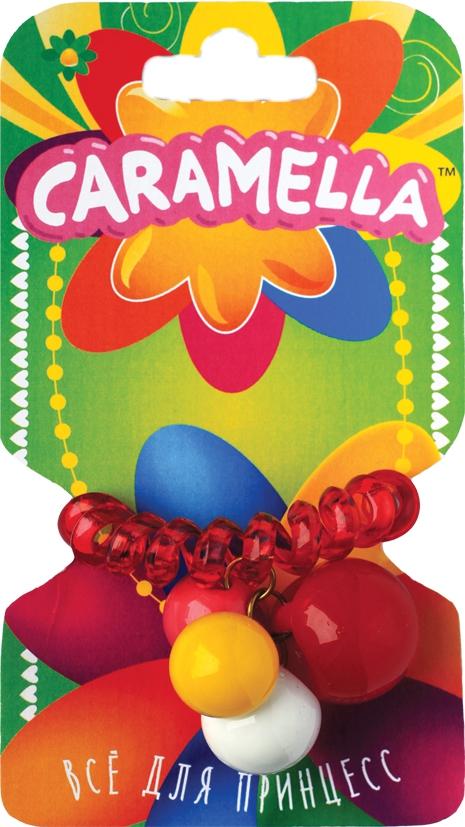 Украшения CARAMELLA Резинка для волос Caramella «Пружинка» с шариками красная