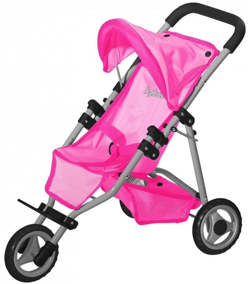 Коляска для кукол LokoToys Трехколесная коляска для кукол bayer design тренди цвет серый розовый