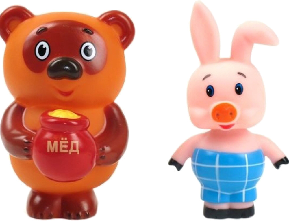 Игрушки для ванны Играем вместе Винни-Пух и Пятачок много mymei 4шт игрушки для ванной душ вода плавающей скрипучий желтых резиновых уток детские игрушки воды игрушки brinquedos для ванной комнаты