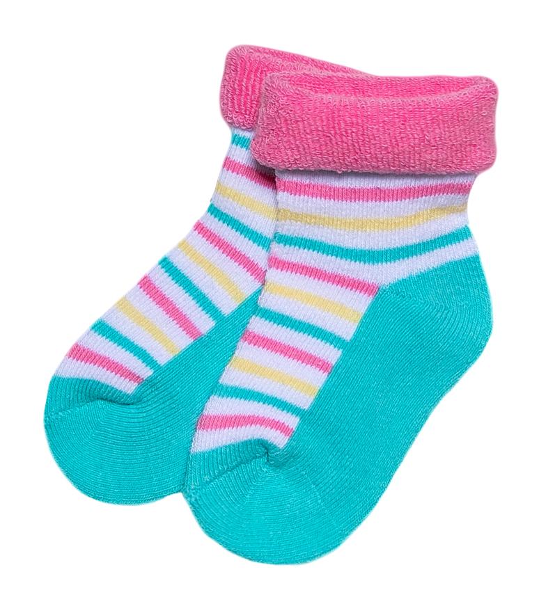 Носки Barkito Носки махровые для девочки Barkito, мятные с рисунком в полоску ostin махровые носки с новогодним рисунком