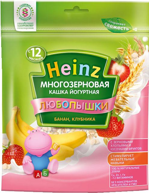 Каша Heinz Heinz Любопышки молочная многозерновая йогуртная банан, клубника (с 12 месяцев) 200 г heinz каша многозерновая из пяти злаков с 6 месяцев 200 г