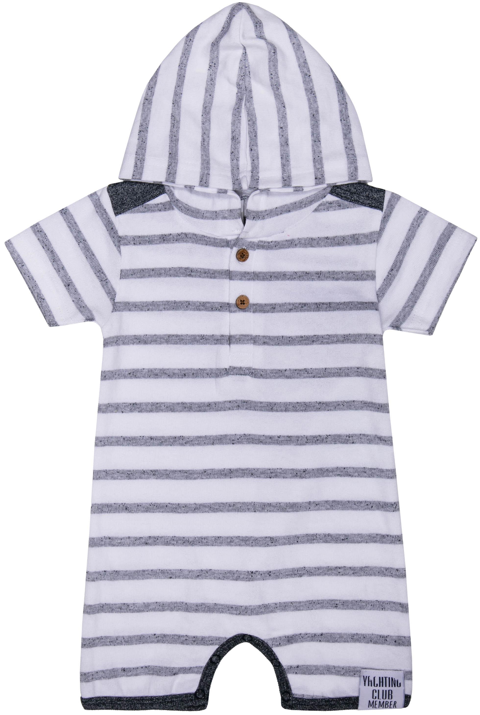 Полукомбинезон для мальчика Barkito Яхтклуб белый в синюю полоску полукомбинезон джинсовый для мальчика barkito деним