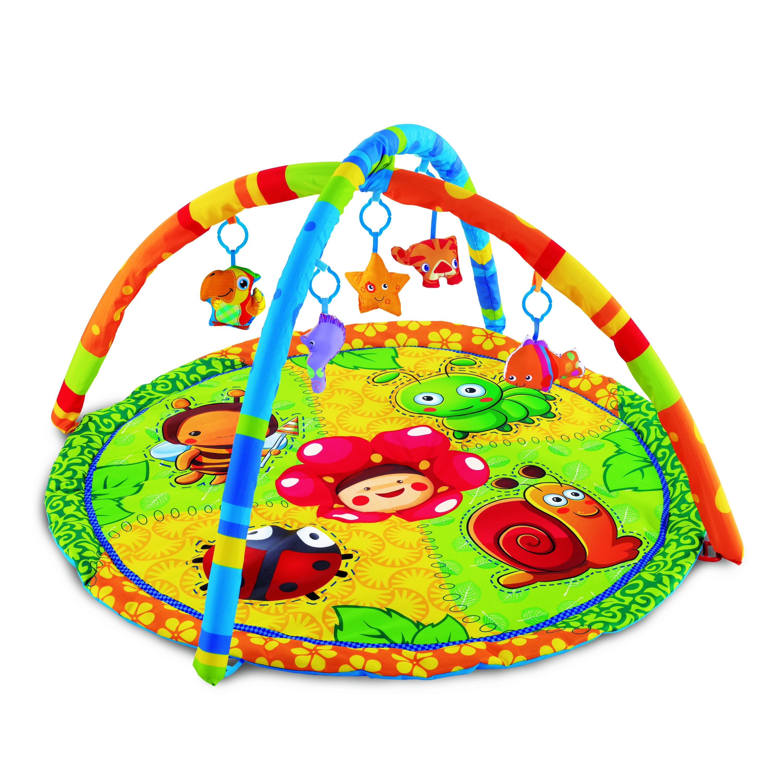 развивающие коврики Развивающие коврики Умка круглый с мягкими игрушками на подвеске
