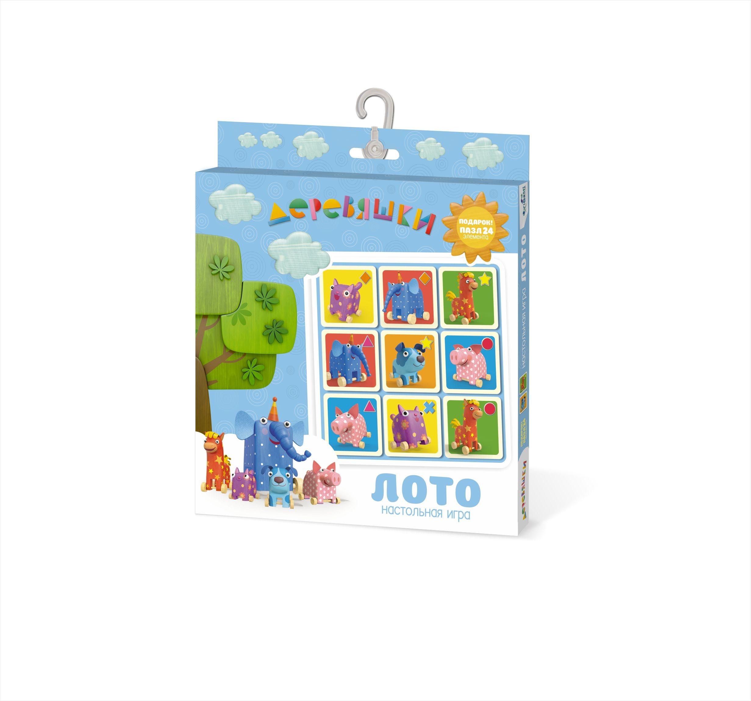 Настольная игра Origami Деревяшки. Лото 24 эл 04531 настольная игра стратегическая origami миллионер юниор 00110