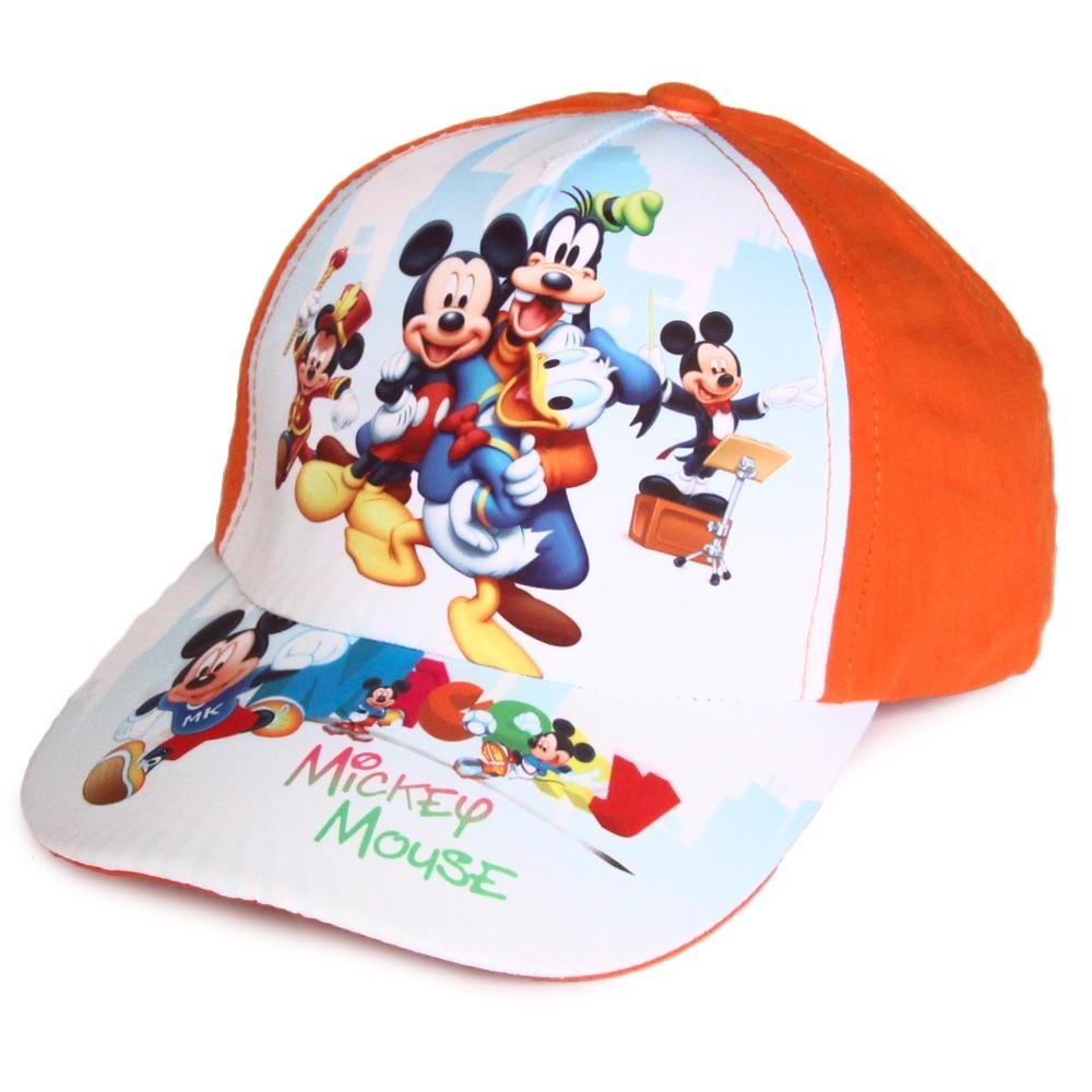 Головные уборы Disney Бейсболка Микки Маус зелёный/голубой/серый