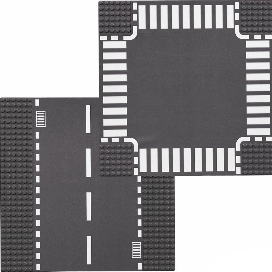 LEGO LEGO Конструктор LEGO City 7280 Прямая дорога и перекрёсток конструктор city lego lego mp002xb00857