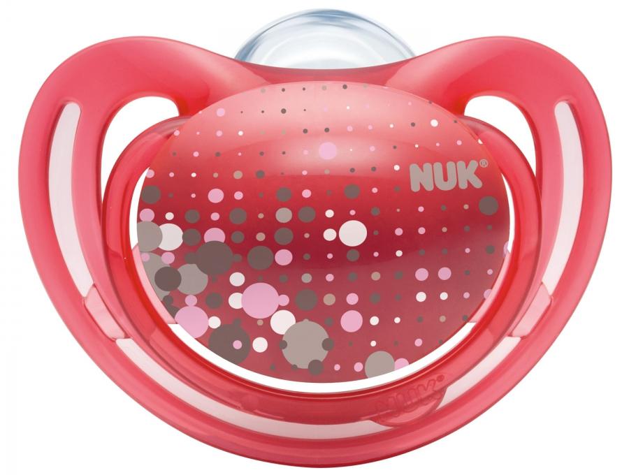 Пустышка NUK Freestyle ортодонтическая для сна с 18 мес. 2 шт. пустышка силиконовая для сна nuk freestyle