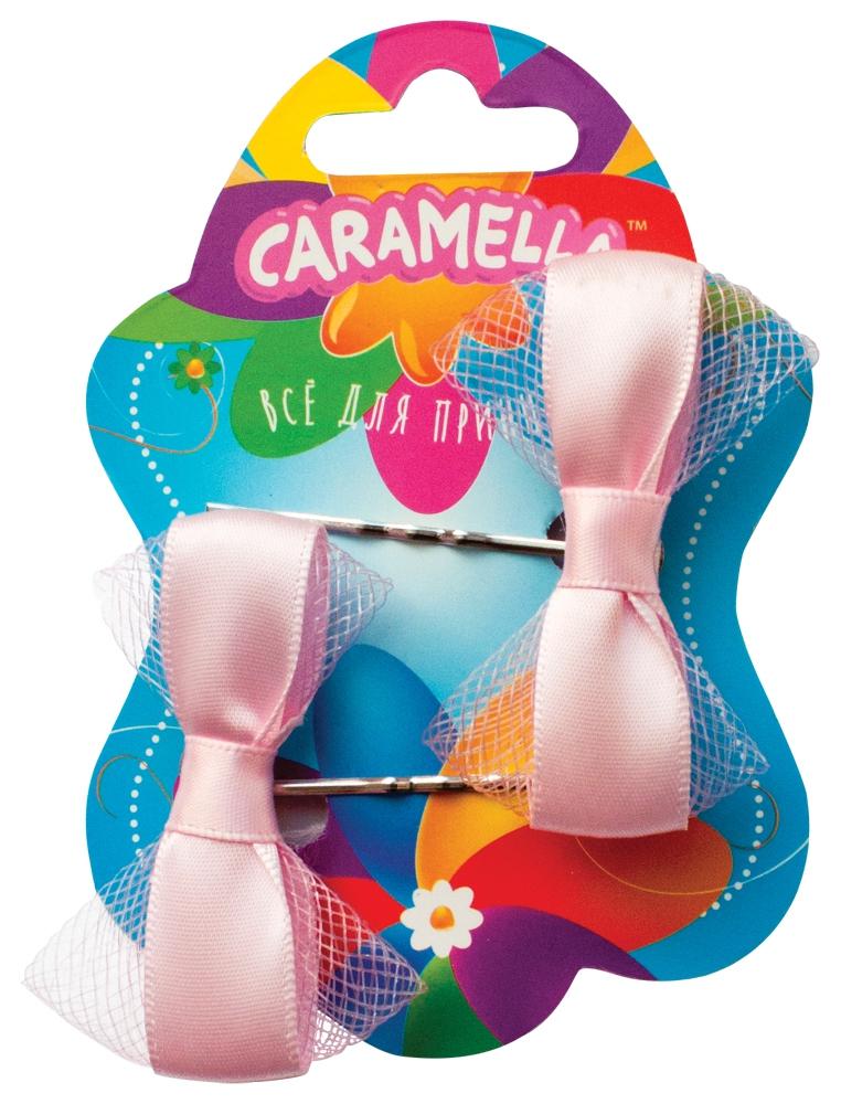 Украшения CARAMELLA Заколка для волос Caramella «Бантик» розовые 2 шт. невидимка для волос funny bunny розовые цветы 2 шт
