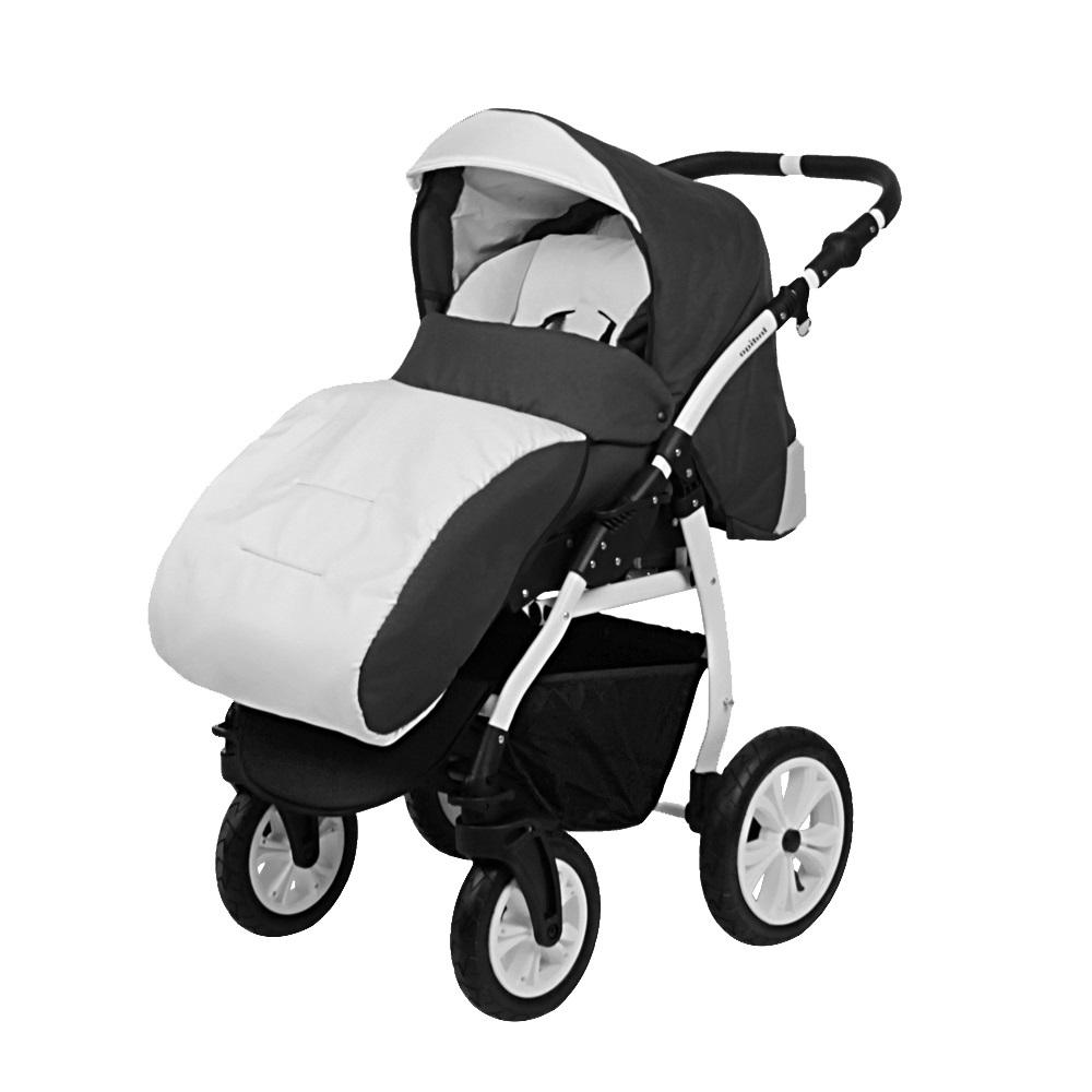 Классическая коляска 2 в 1 Indigo Sydney'17 светло-серый с темно-серым