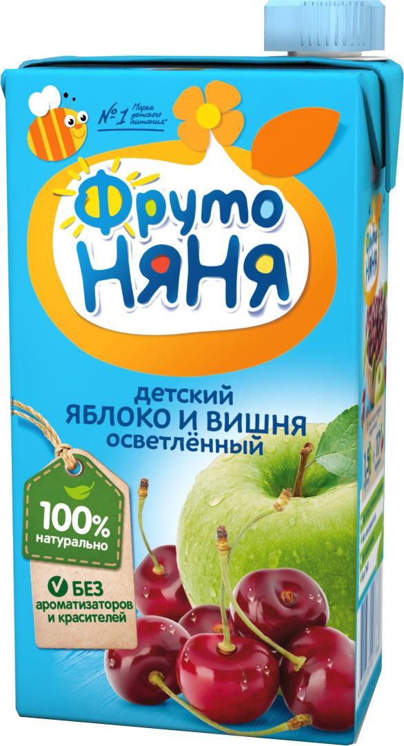 Напитки Фрутоняня Яблоко и вишня осветленный с 3 лет 500 мл миша нектар морковь яблоко 0 33 л