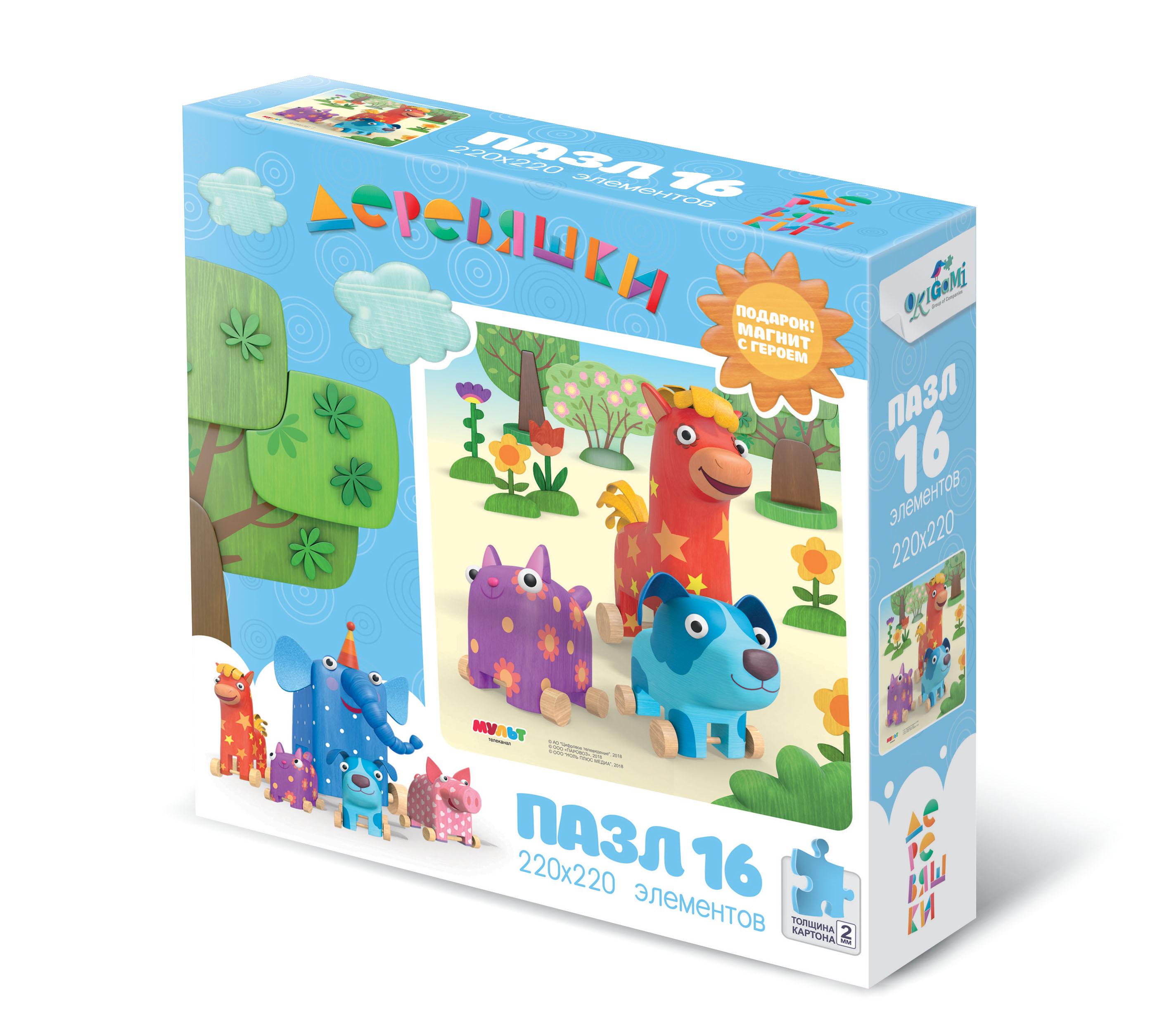 Пазл Origami Деревяшки. Лето 16 эл 04514 цена и фото