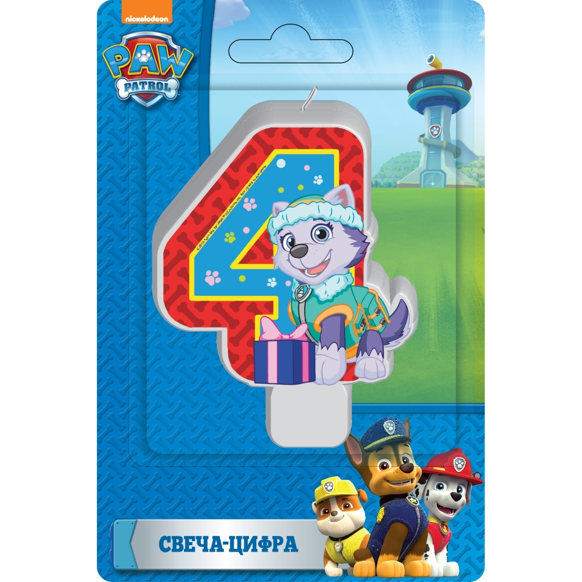 Paw Patrol Paw Patrol Свеча Paw Patrol «Цифра 4» 20cm canine patrol dog toys russian anime doll action figures car patrol puppy toy patrulla canina juguetes gift for child m134