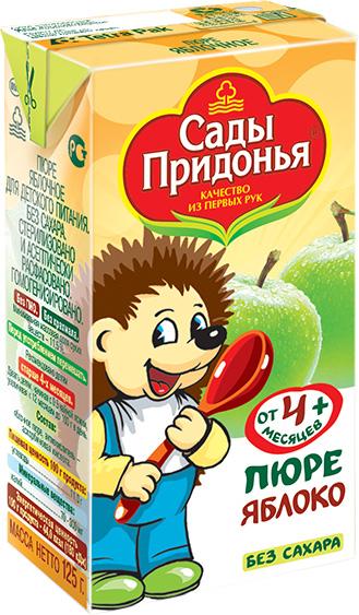 купить Пюре Сады Придонья Сады Придонья Яблоко (с 4 месяцев) Tetra Pak 125 г по цене 18.5 рублей