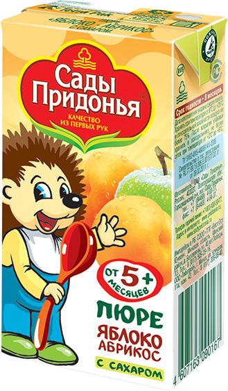 Пюре Сады Придонья Сады Придонья Яблоко, абрикос (с 5 месяцев) Tetra Pak 125 г сады придонья сок яблоко абрикос с 5 мес 0 125л