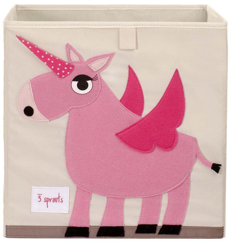 Ящики и корзины для игрушек 3 Sprouts «Pink Unicorn»