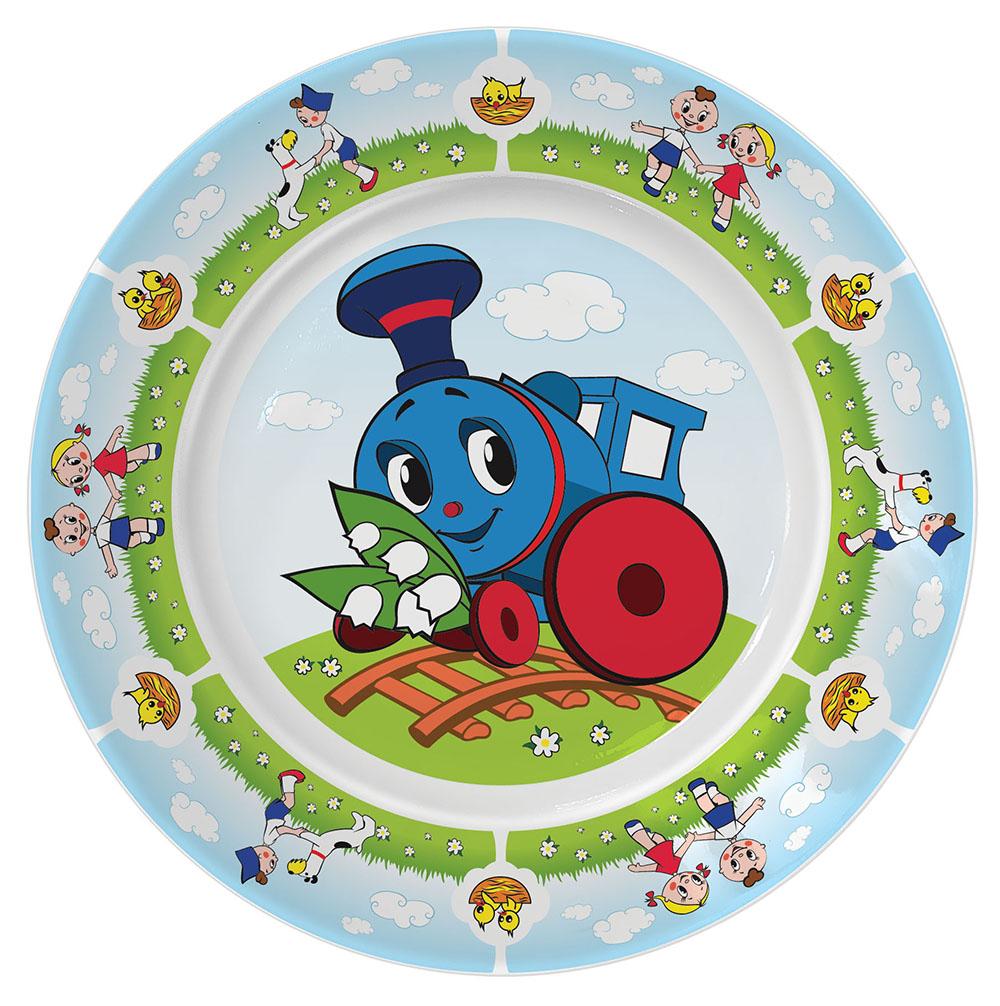Набор посуды Приор Групп Паровозик из Ромашково стекло книга азбукварик говорящие сказки паровозик из ромашково