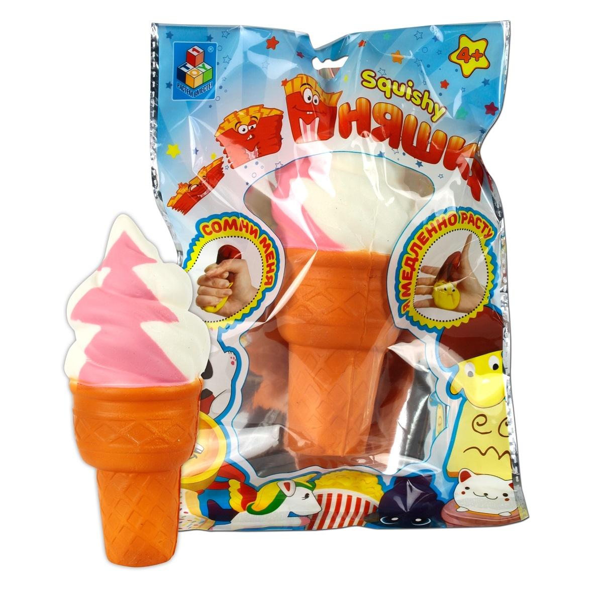 Фото - Игрушка-антистресс 1toy Мммняшка: Мороженое антистрессовая игрушка 1toy м м мняшка банан в карамели полимер