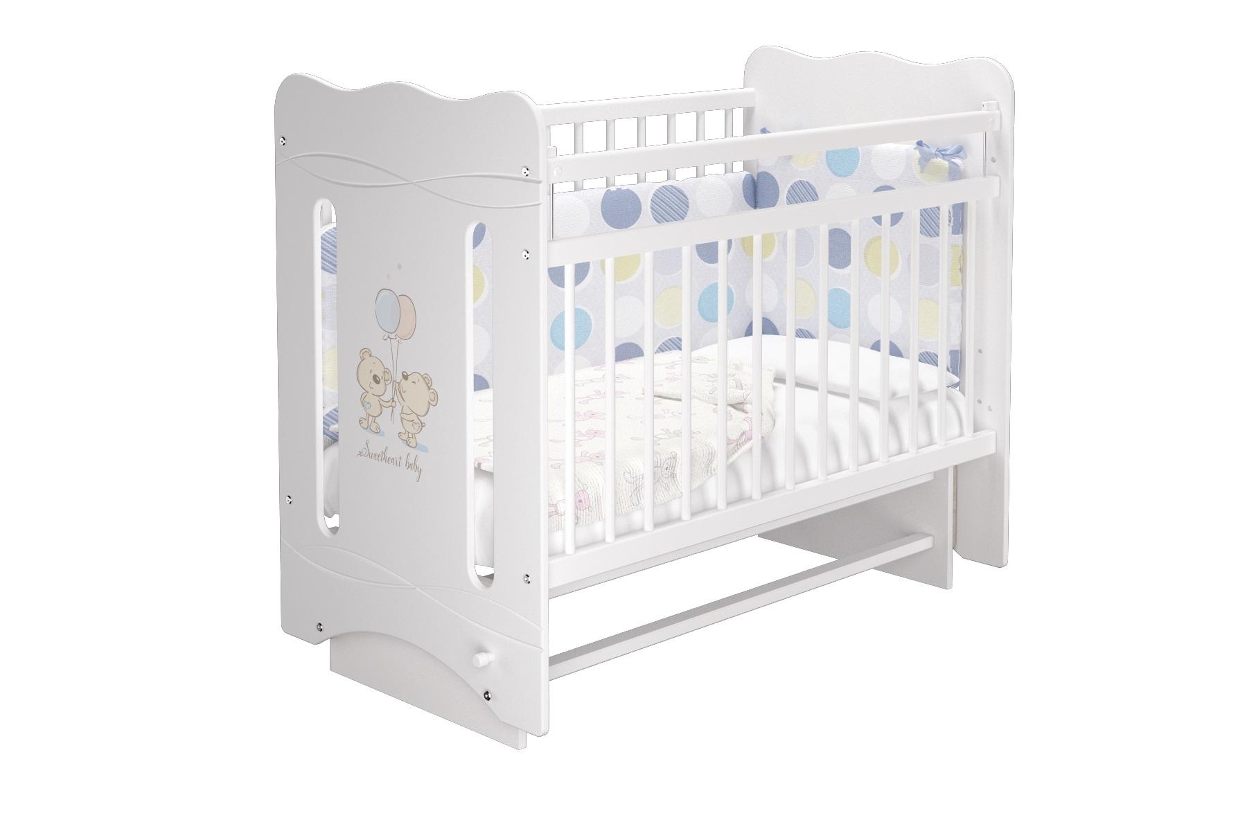 Кроватки Laluca Моника 2 (маятник) детские кроватки можгинский лесокомбинат laluca руслана медвежонок поперечный маятник