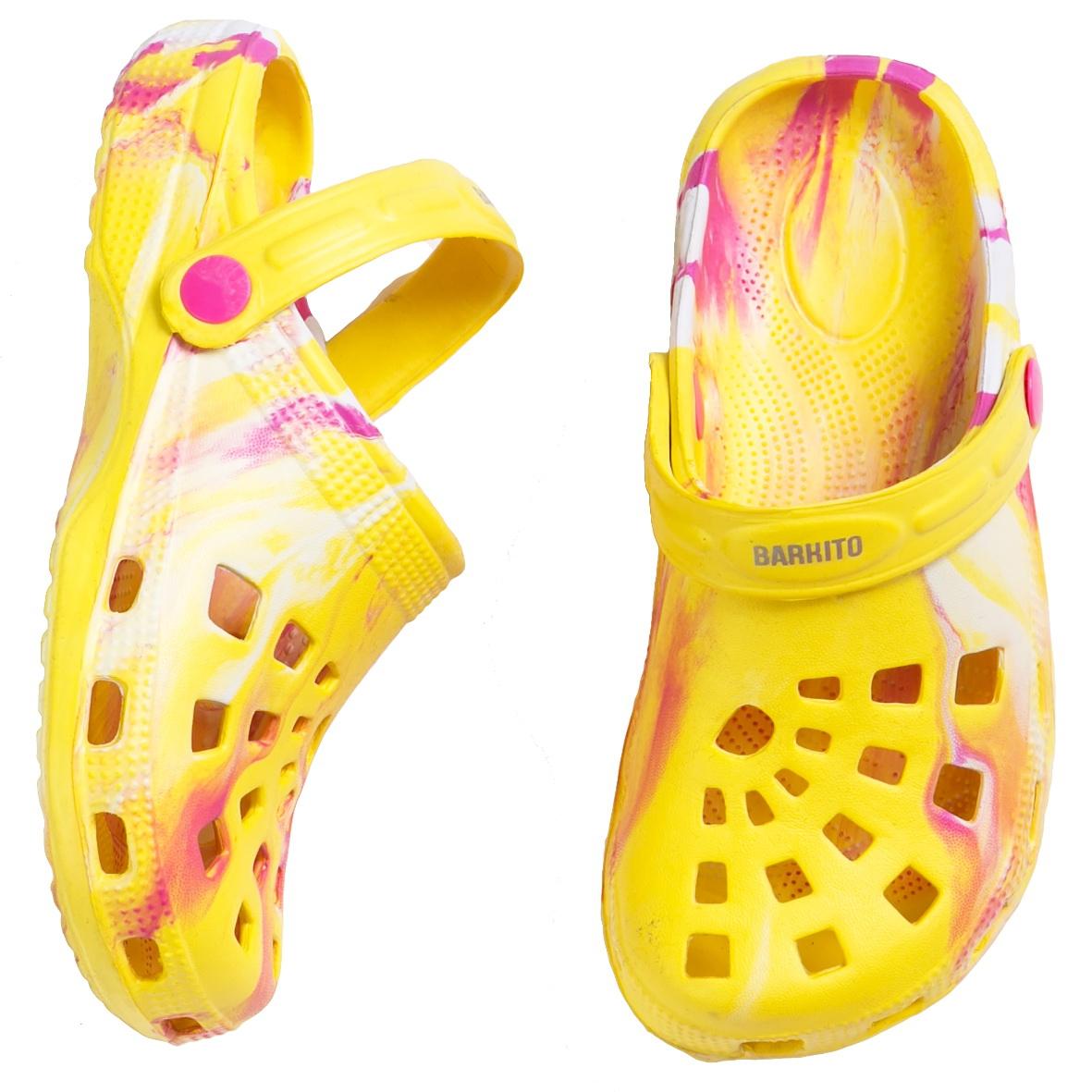 Сланцы (пляжная обувь) Barkito Сандалии для пляжа и бассейна для девочки Barkito желтый мода женщин сандалии flock party weddng обувь партии желтый цвет сандалии плюс размер a012 77