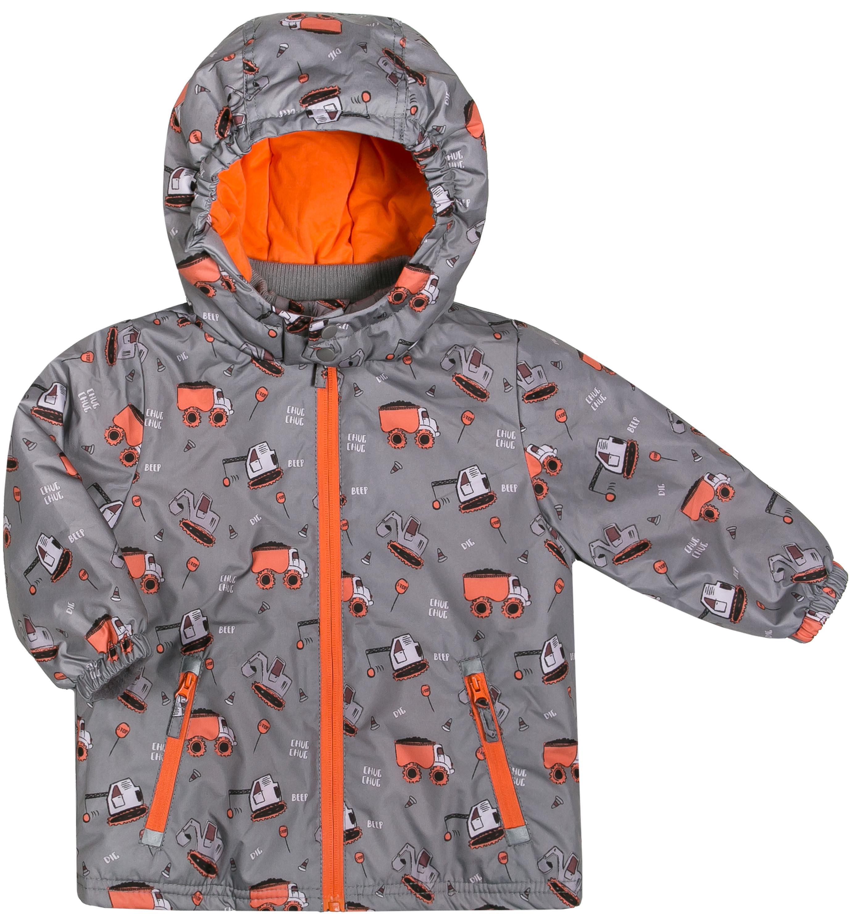Куртки Barkito Куртка для мальчика Barkito, серая с рисунком «машинки»