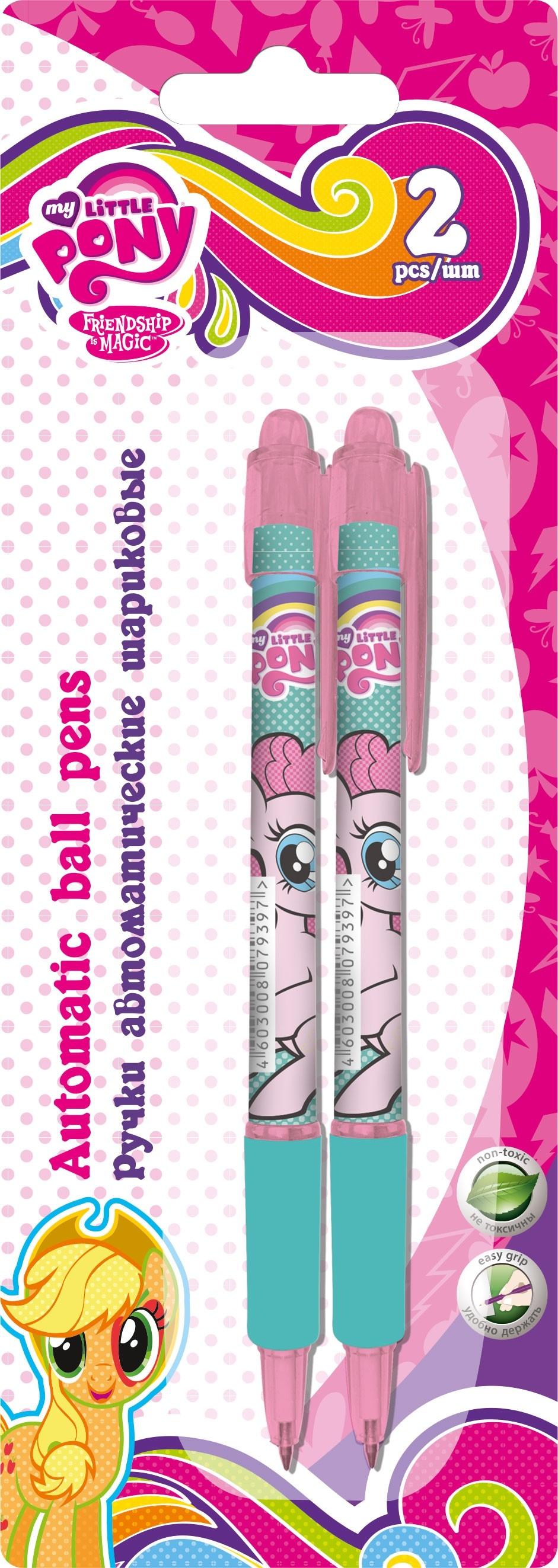 Ручки и карандаши My Little Pony 2 шт. набор смешарики 8 цветных ручек шариковых автоматических 0 7 мм в пвх упаковке с подвесом 84159