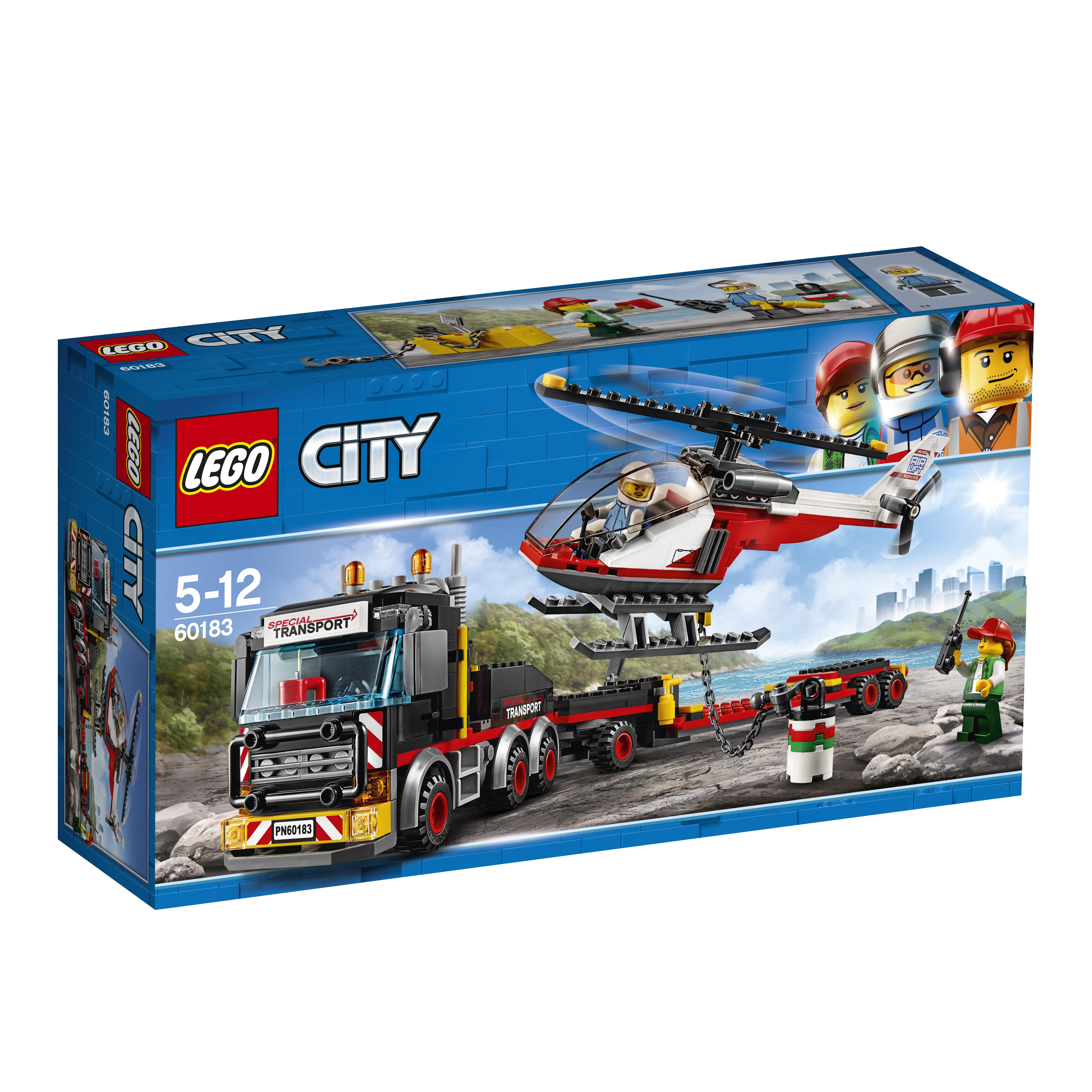 LEGO LEGO City Great Vehicles 60183 Перевозчик вертолета конструкторы lego lego city great vehicles рыболовный катер 60147