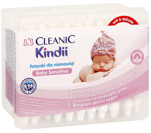 Ватные палочки и диски Cleanic Ватные палочки Cleanic Kindi 60 шт . уход за малышом kyko ватные палочки 100 шт