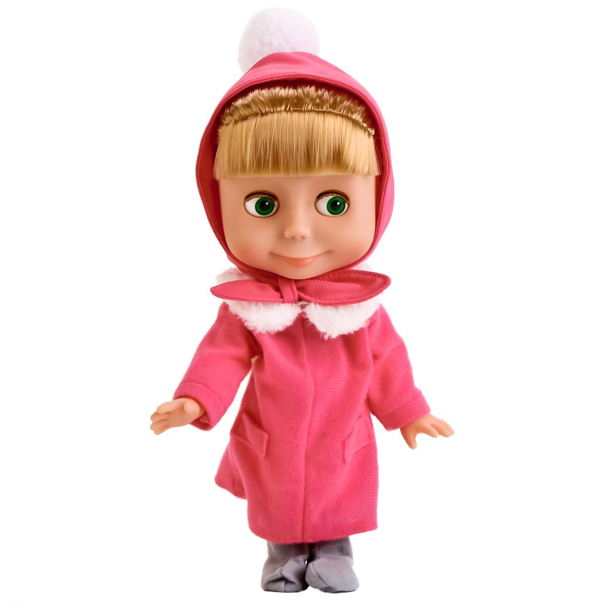Пупсы Карапуз Кукла Карапуз «Маша» в зимней одежде карапуз кукла рапунцель со светящимся амулетом 37 см со звуком принцессы дисней карапуз