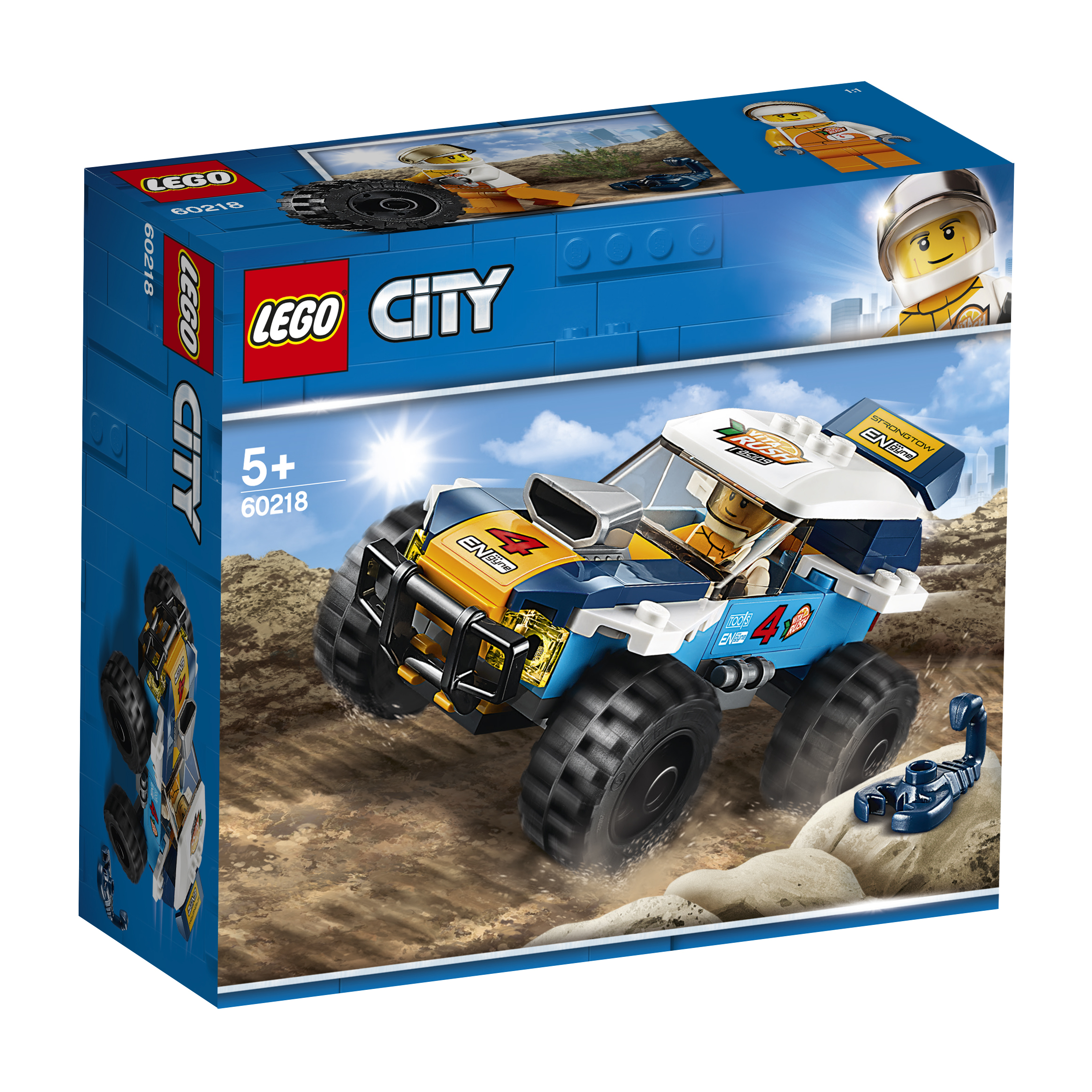 LEGO LEGO City Great Vehicles 60218 «Участник гонки в пустыне» lego city 60218 конструктор лего город транспорт участник гонки в пустыне